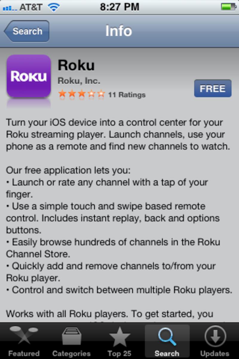 Install the Roku app.