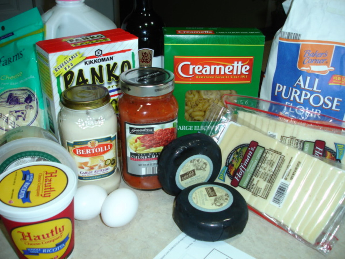 Ingredients for Fried mac and cheese cheesecake factory.