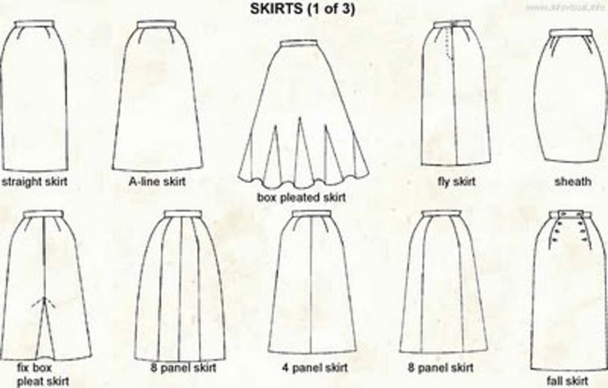 types of skirts styles for women
