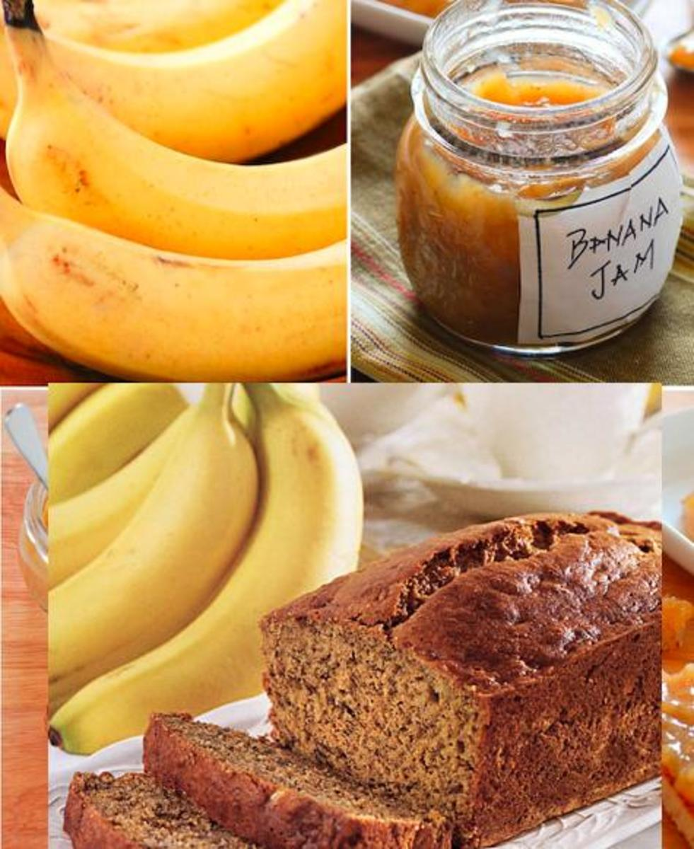 Banana Jam, Banana Bread And More