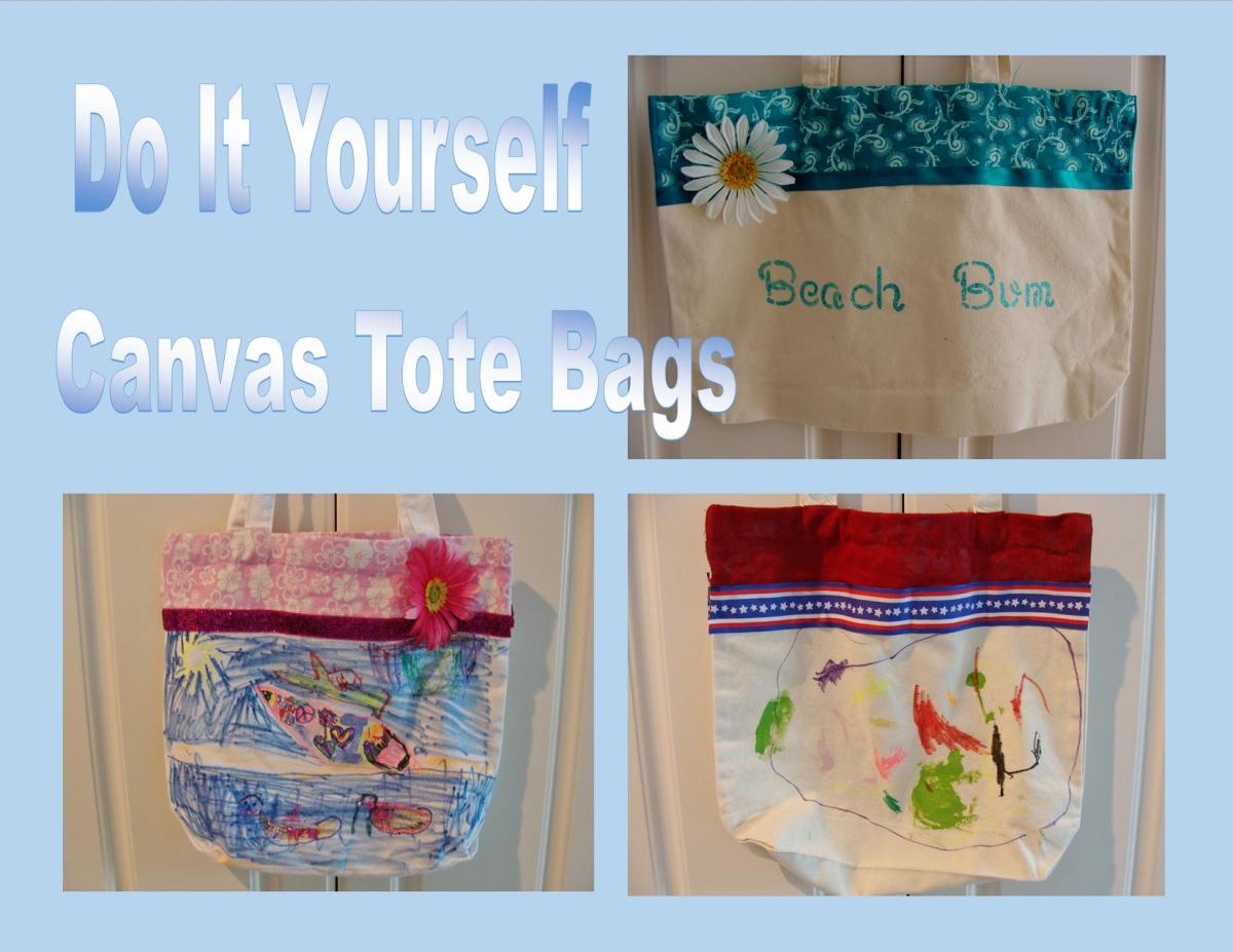 Variety of options for decorating canvas bags.