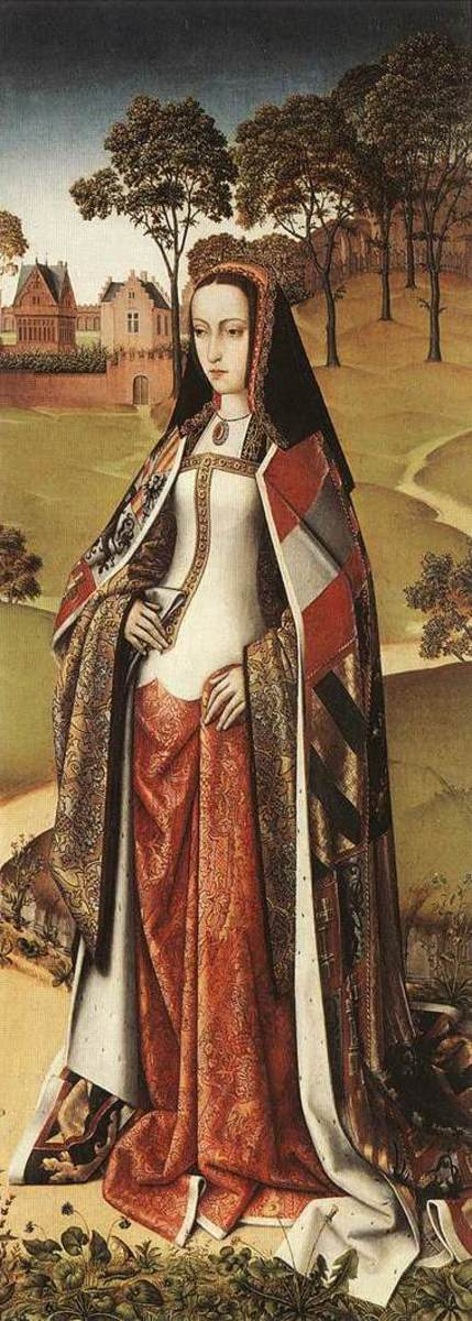 Queen Joanna of Castile, wearing Round Hood - which was similar to the early French Hood.