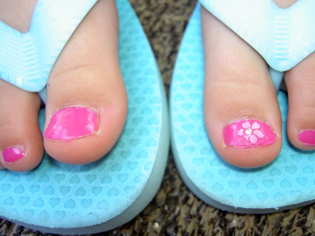 Nail polish is a quick cover up for nail fungus but bare buffed nails are wanted underneath.
