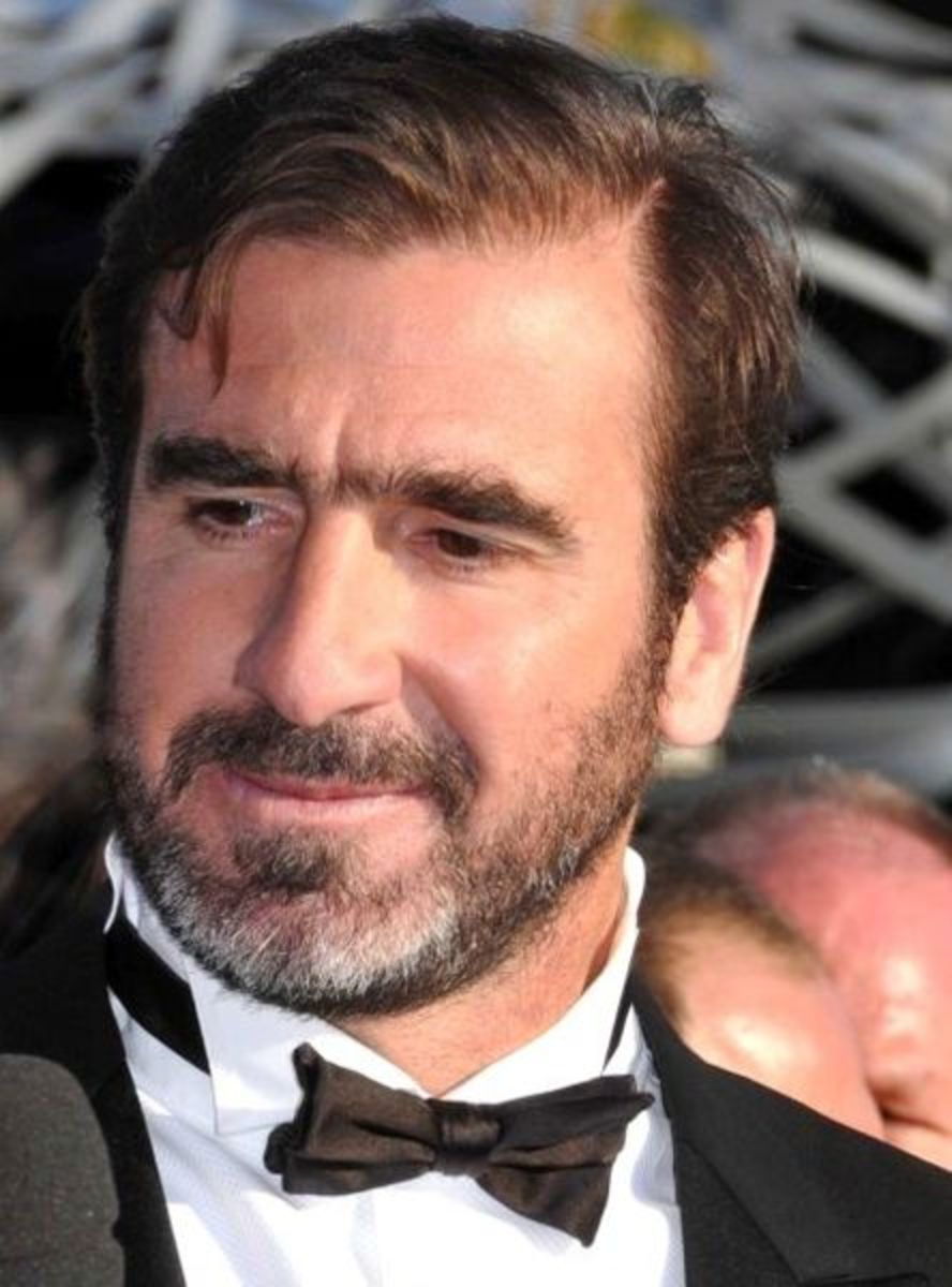 Eric Cantona- the mercurial Frenchman who helped to inspire Manchester United to their first league title in 26 years.
