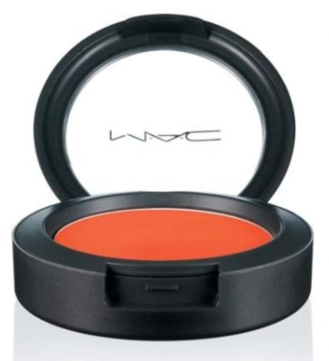 Orange Blush for Olive Skin