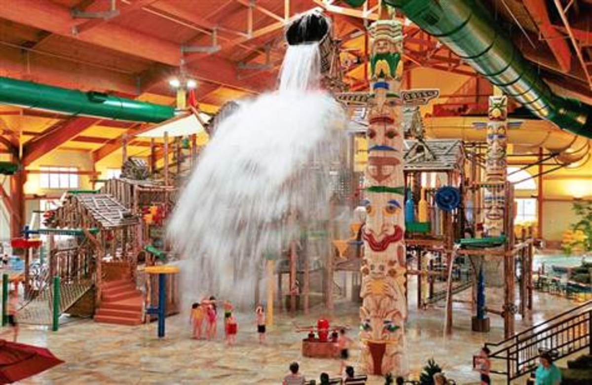 Great wolf lodge indoor water park, PA