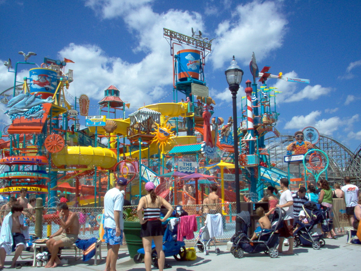 Hershey park contains the water park called boardwalk