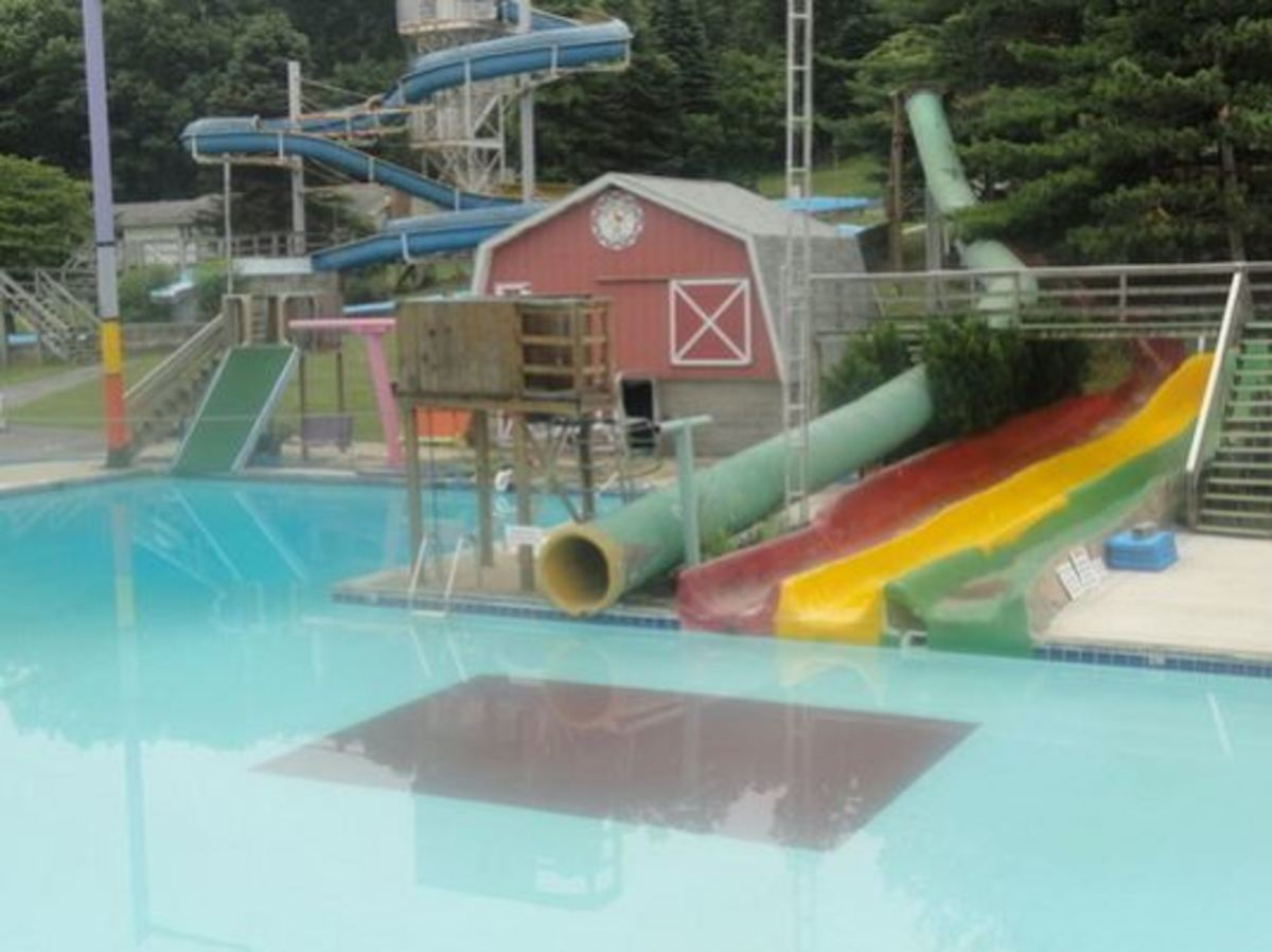 Terry Hill outdoor water park, PA