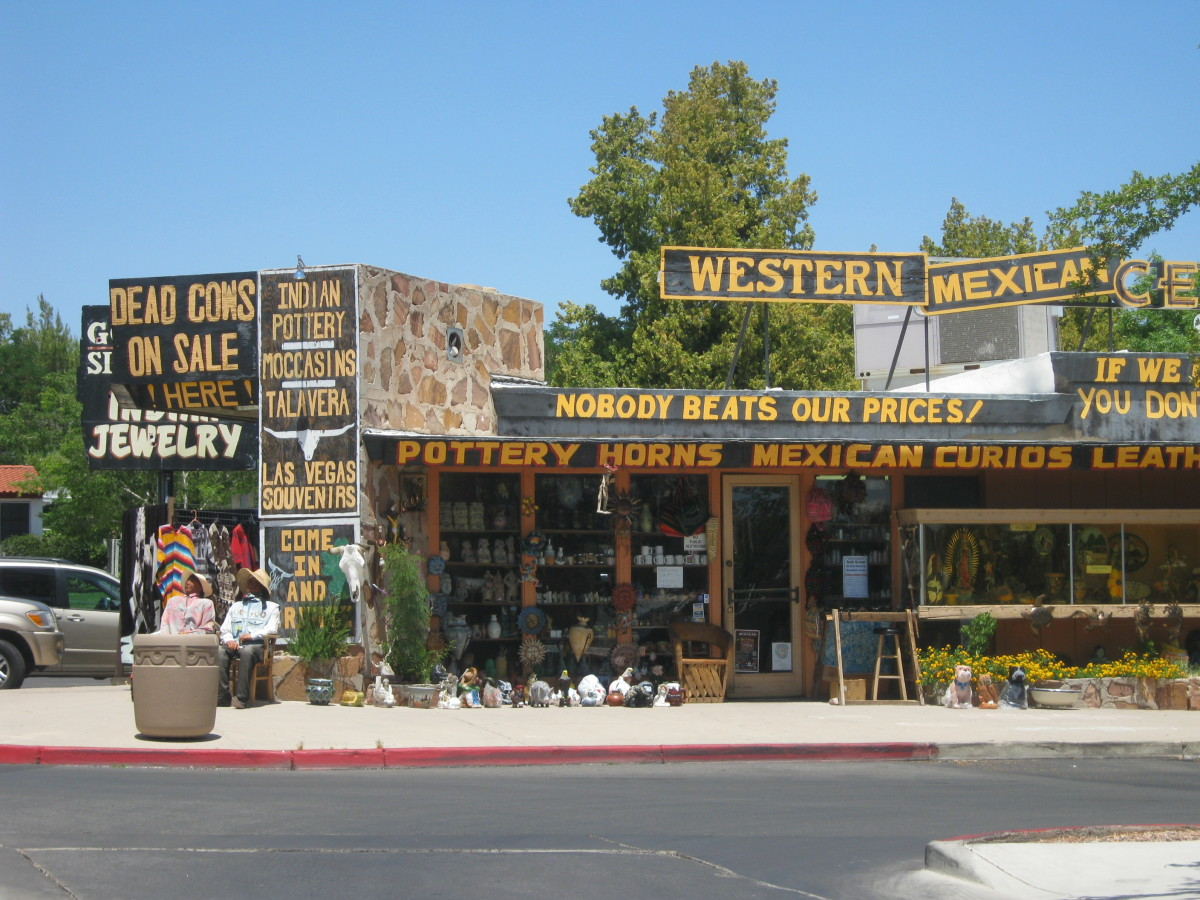 A kitschy little tourist shop in the interesting little town of Boulder City, Nevada.