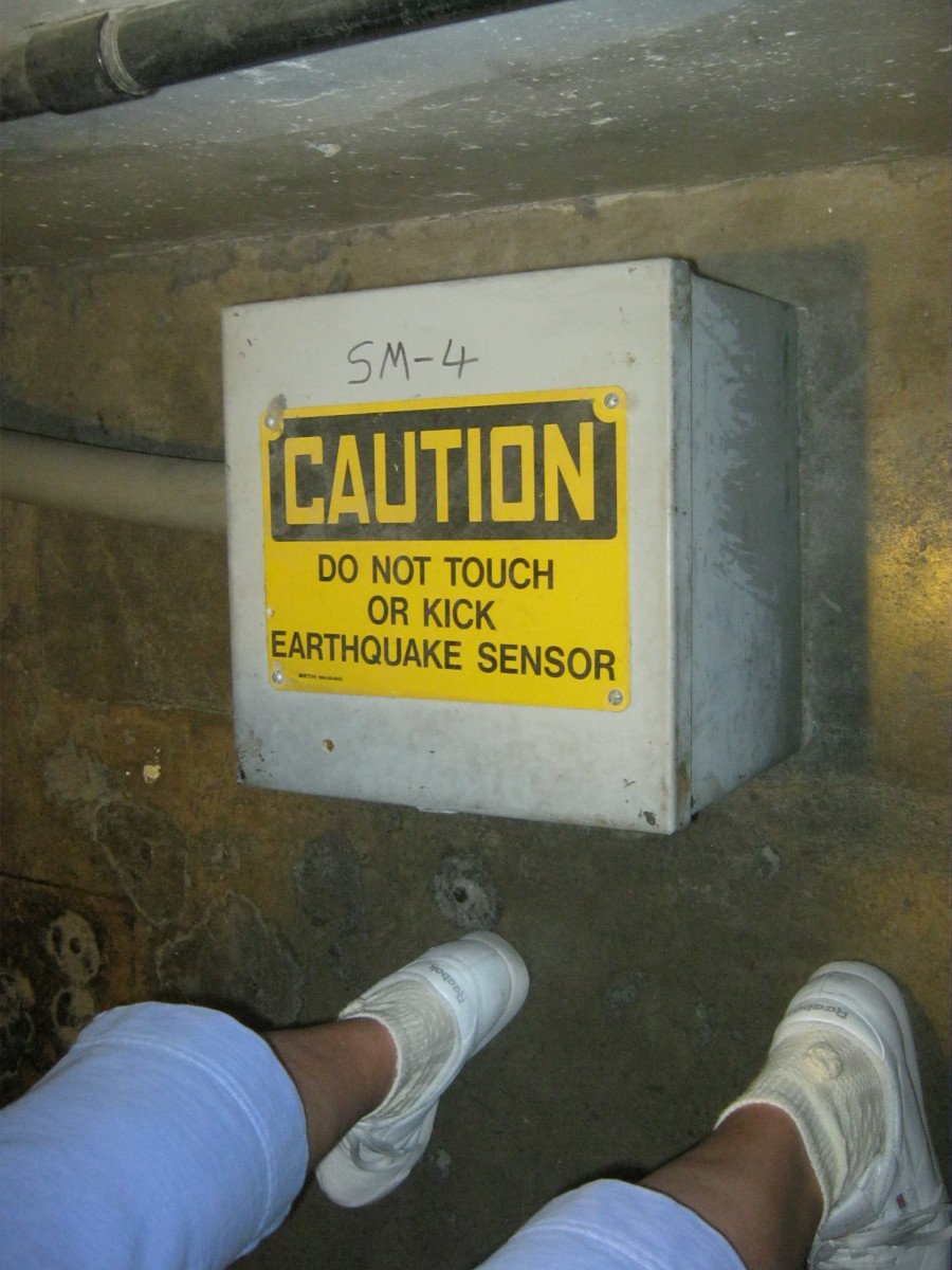 The earthquake sensor inside of Hoover Dam.