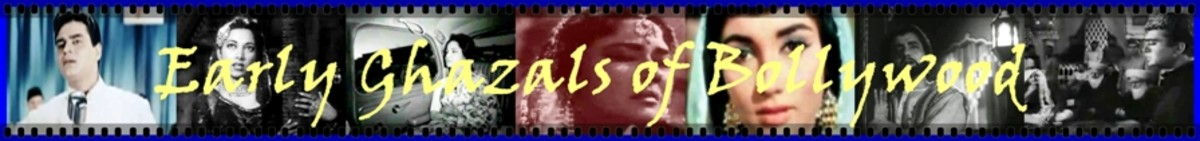 The tradition of EARLY GHAZALS of Bollywood lasted up to first half of eighties. This perido was characterised by a strong dependence on Hindustani Classical music and strong lyrics. making if difficult to differentiate the ghazal from other songs.