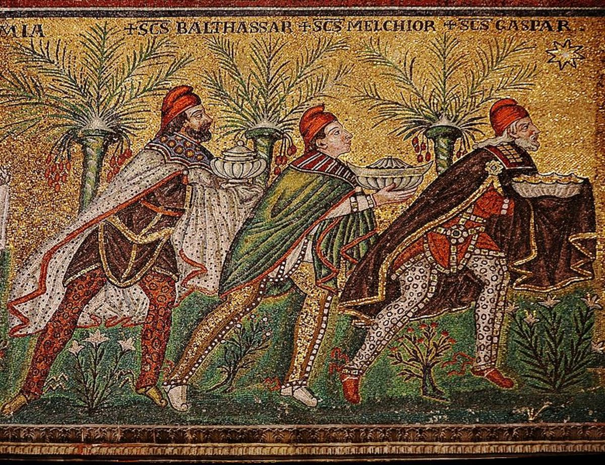 "Basilica of Sant'Apollinare Nuovo in Ravenna, Italy: ""The Three Wise Men"""