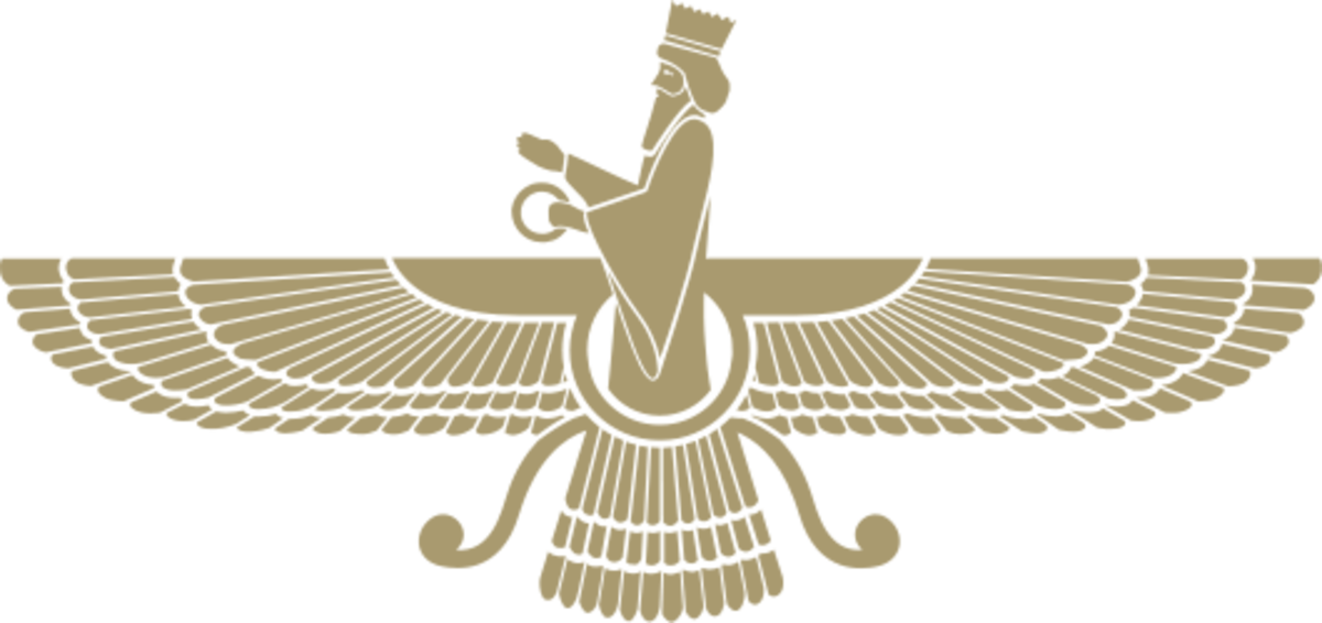 The Faravahar is one of the symbols of Zoroastrianism, as well as of the Median Empire.