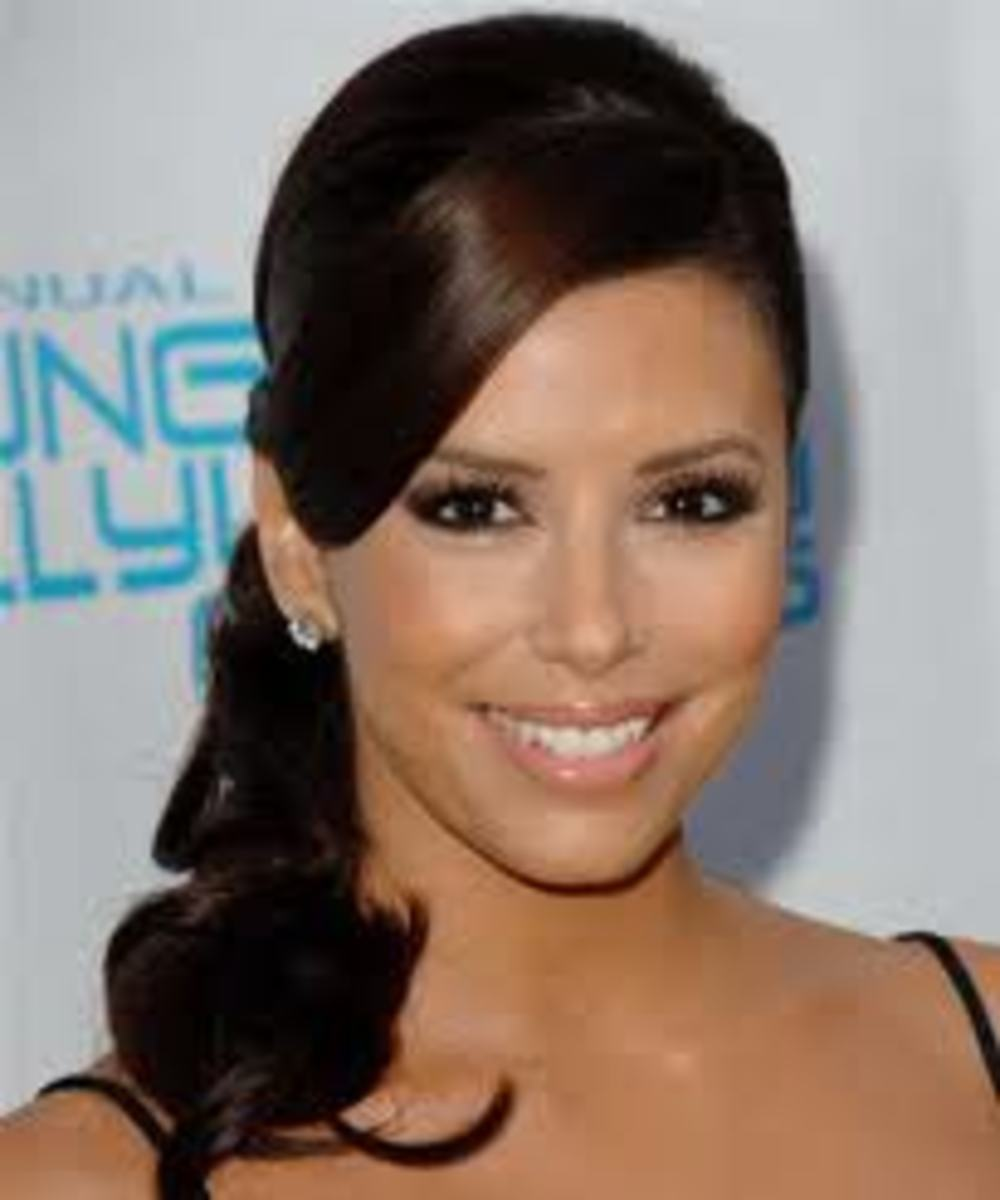 Eva Longoria with Chocolate Brown Hair