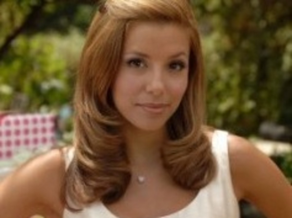 Eva Longoria with Dark Golden Blonde Hair