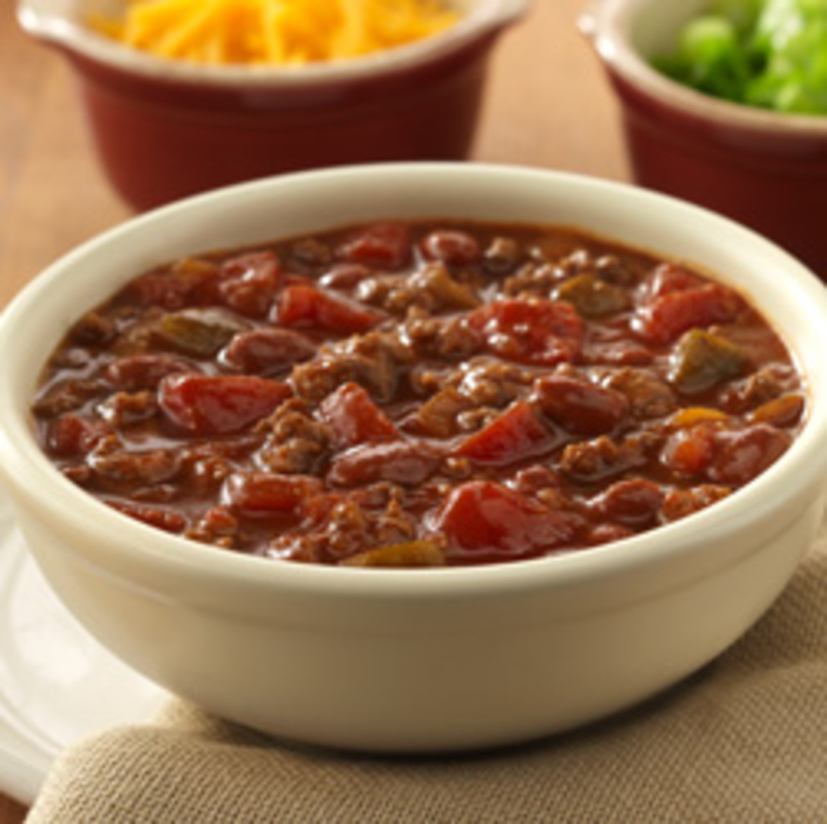 This chili can be ready in thirty minutes or less and its oh so delicious.