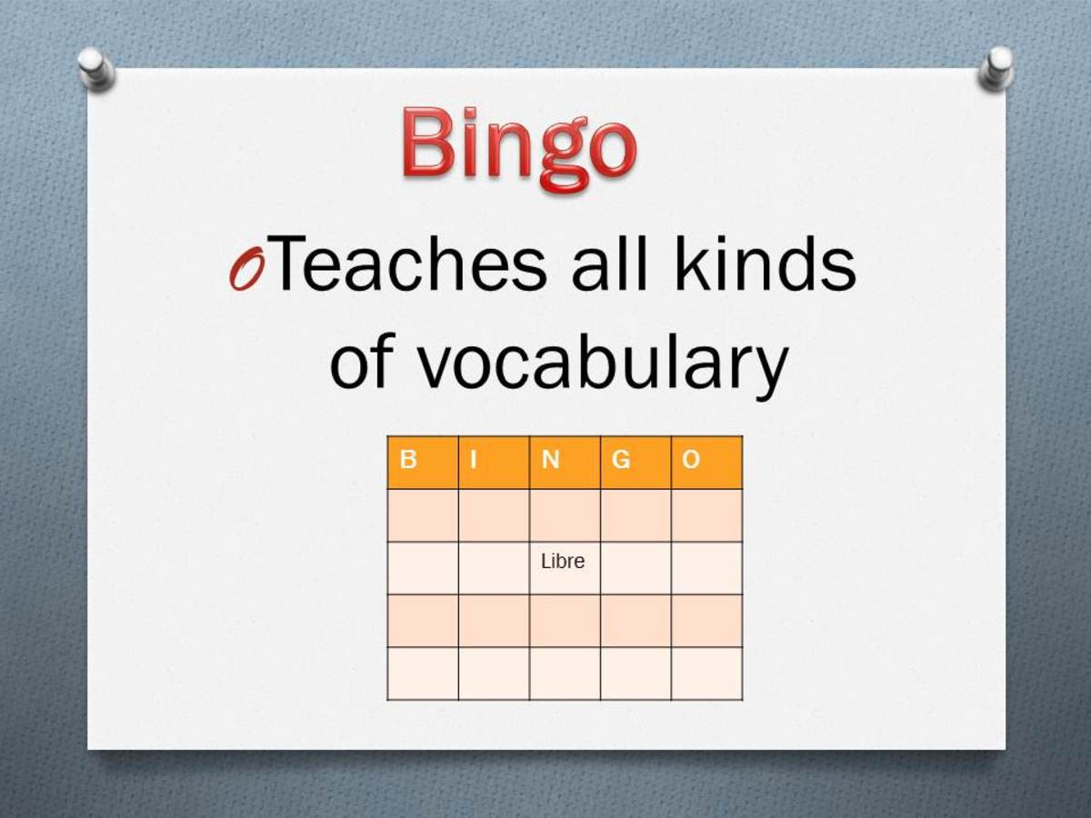 Bingo is a great game for learning and practicing new vocabulary in other languages.