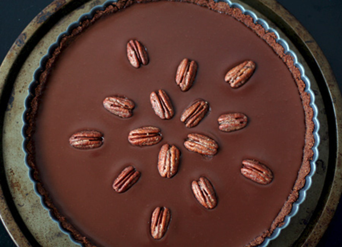 mexican chocolate tart with cinnamon spiced pecans love and olive oil