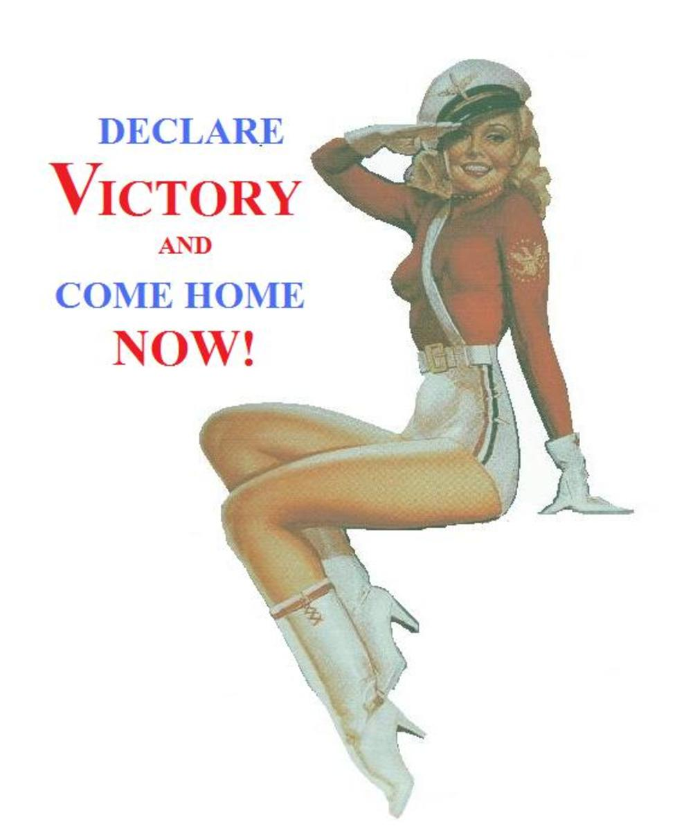 Victory and political-type pin-ups continue to be popular.