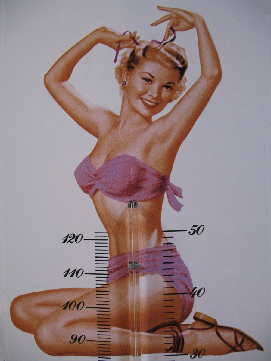 Thermometer readings suggest double entendres when coupled with pin-up subjects.