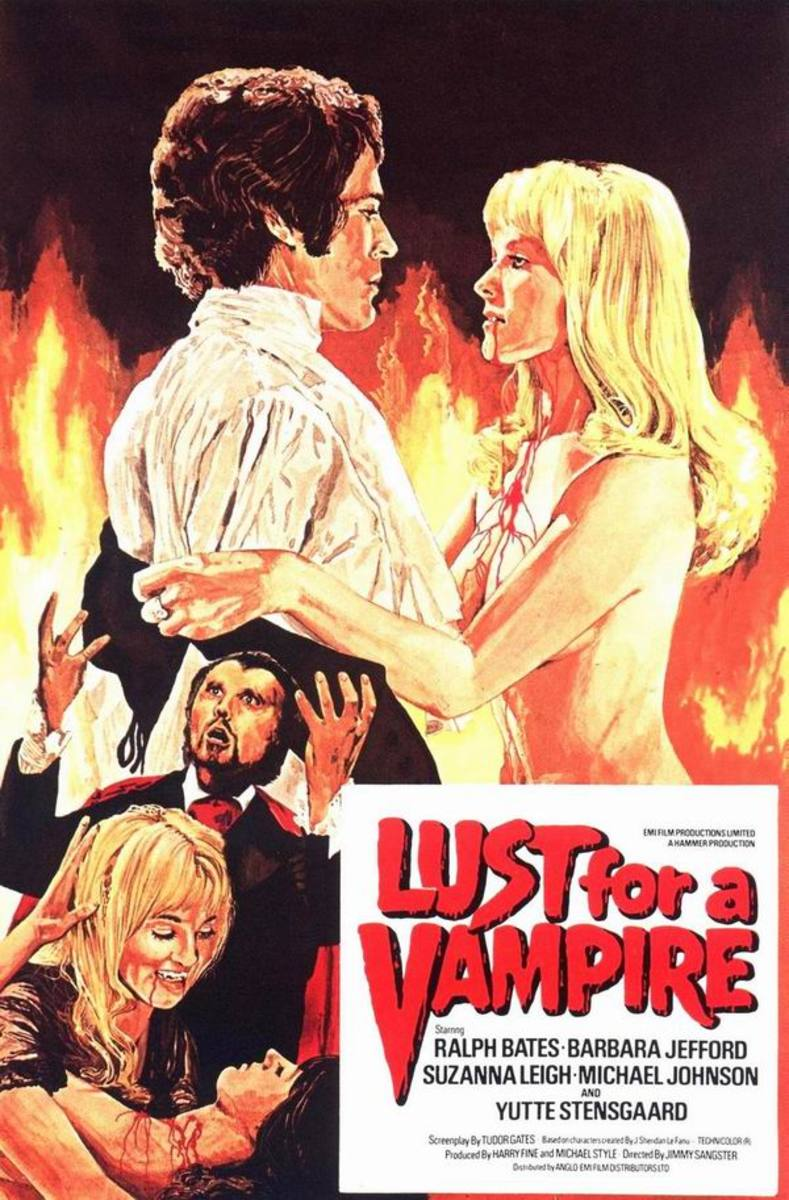 Lust for a Vampire (1971) art by Mike Vaughan