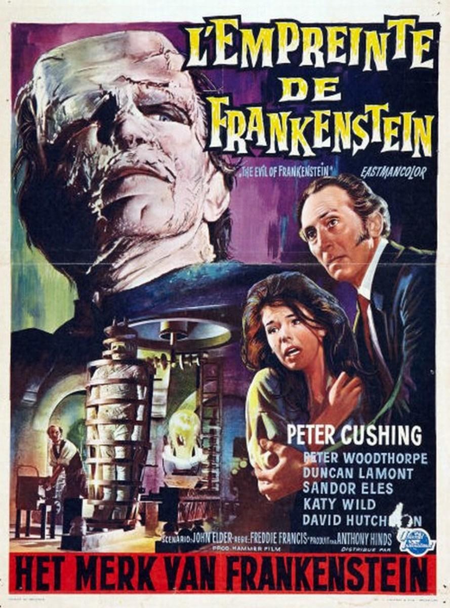 Evil of Frankenstein (1964) French poster