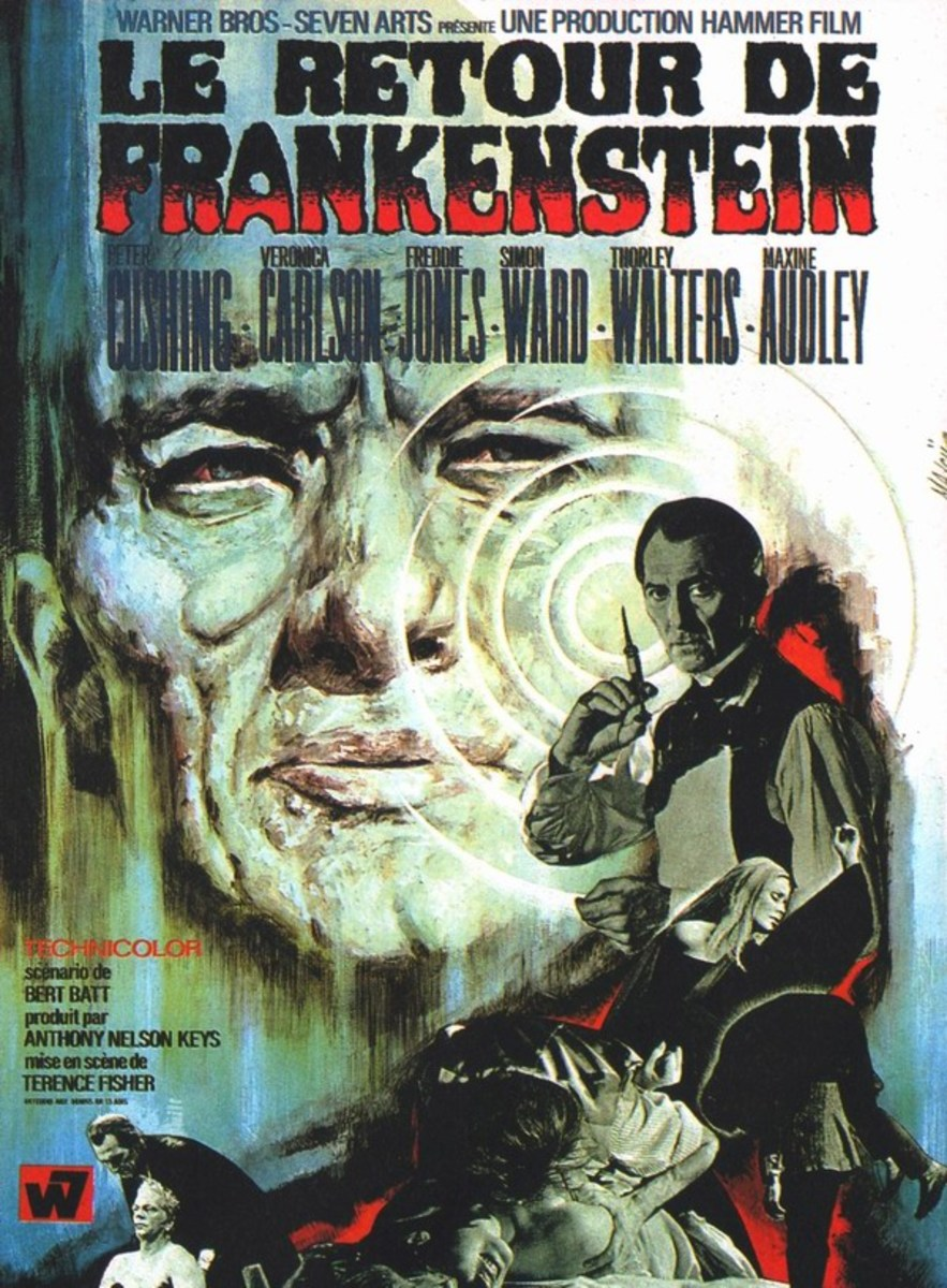 Frankenstein Must be Destroyed (1969) French poster