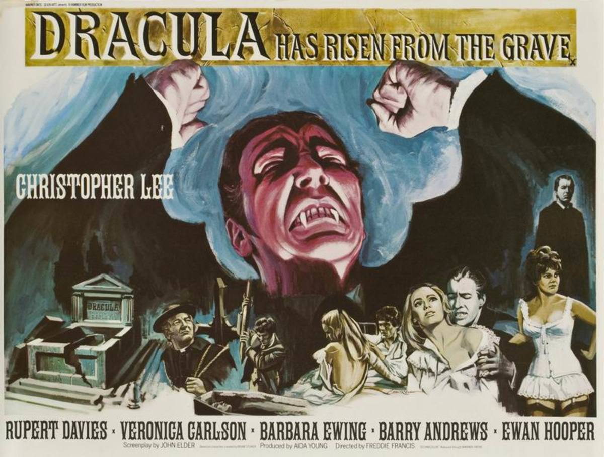 Dracula Has Risen from the Grave (1968) art by Tom Chantrell