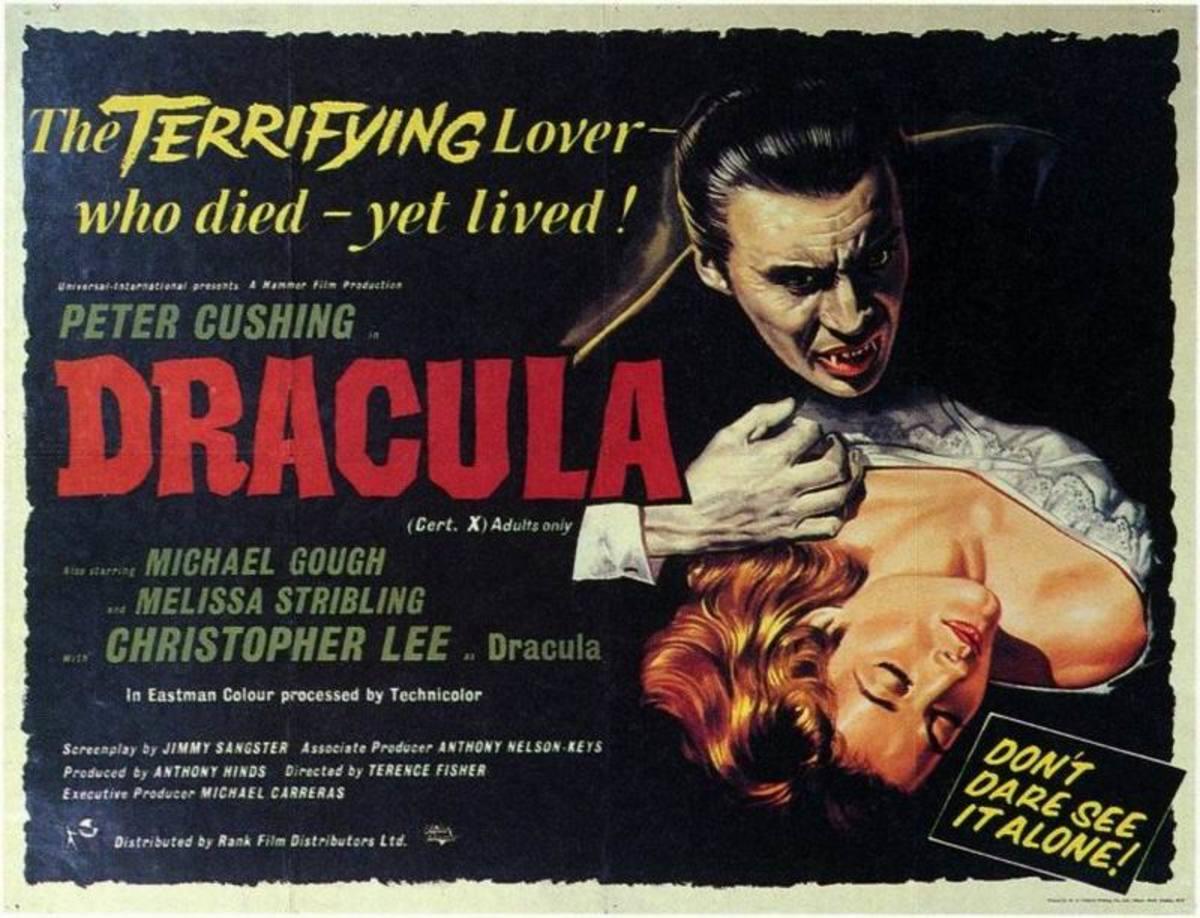 Dracula (1958) UK poster - art by Bill Wiggins