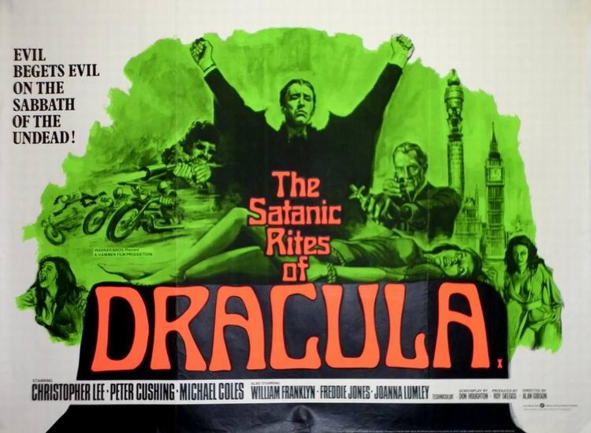 Satanic Rites of Dracula (1973) art by Tom Chantrell