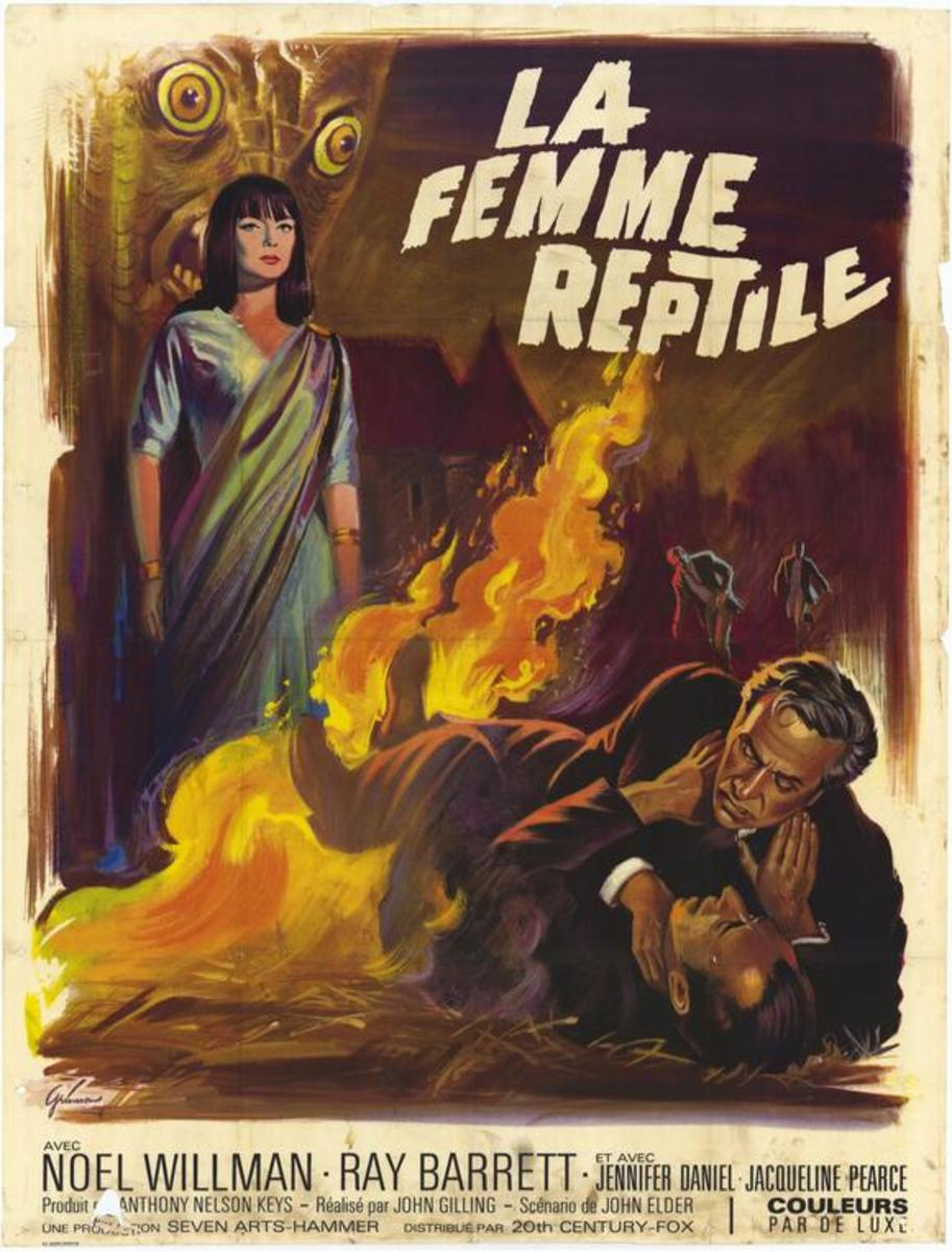 The Reptile (1966) French poster