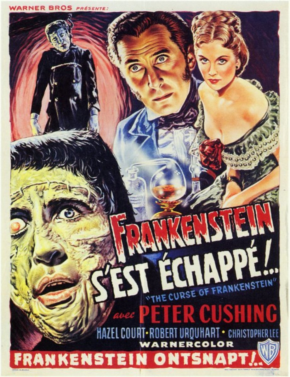 Curse of Frankenstein (1957) French poster