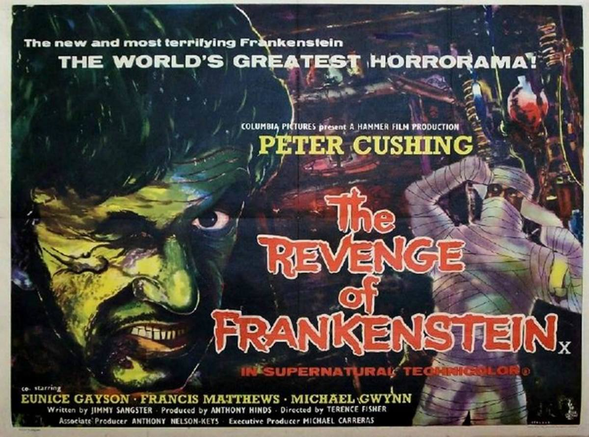 Revenge of Frankenstein (1958) art by John Stockle