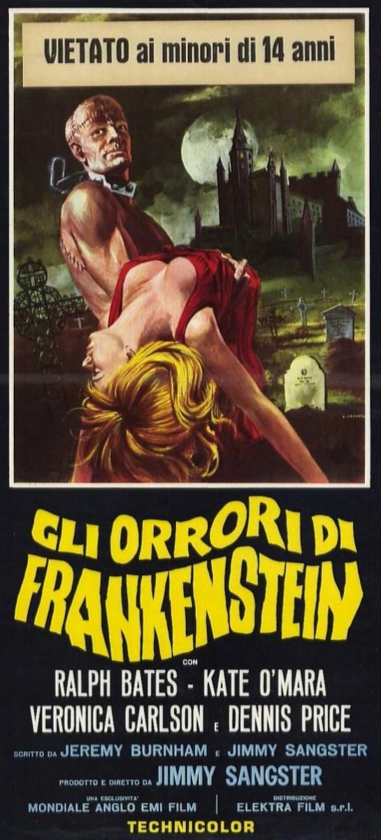 Horror of Frankenstein (1970) Italian poster