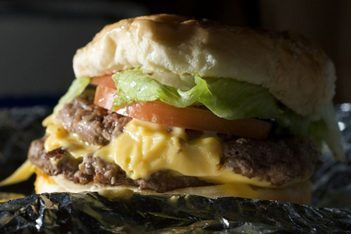 Day 258 - Five Guys and a Burger