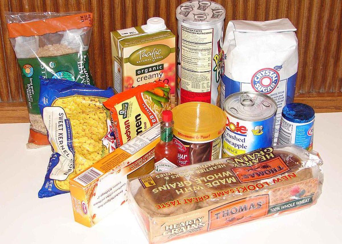 Some packaged house-hold food items