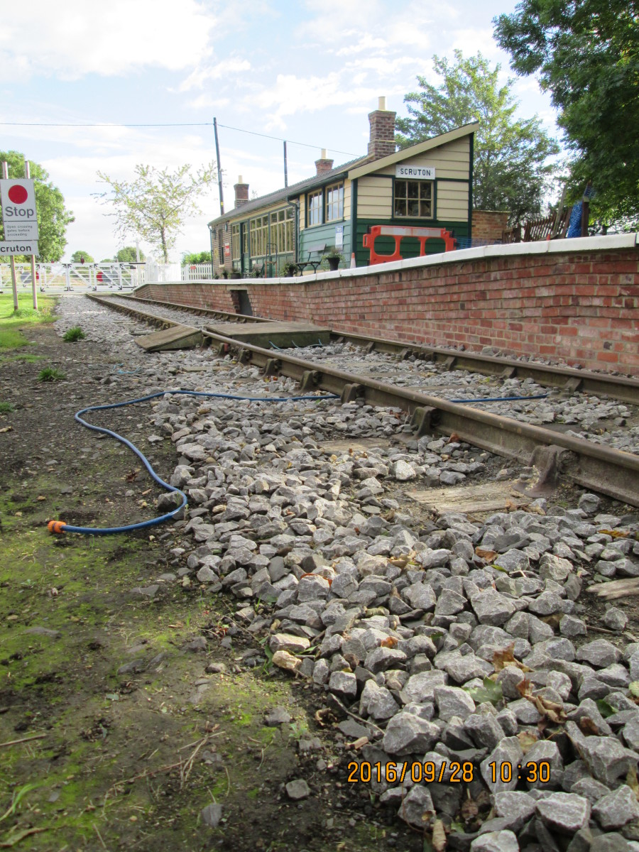 In this picture, that shows where the extension began, just in front of the old platform signal cabin.