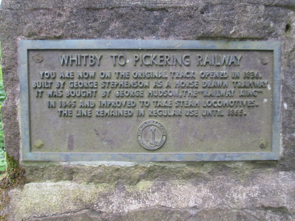 Along the original trackbed constructed by George Stephenson is this plaque put here by the National Park authority to commemorate this historic landmark