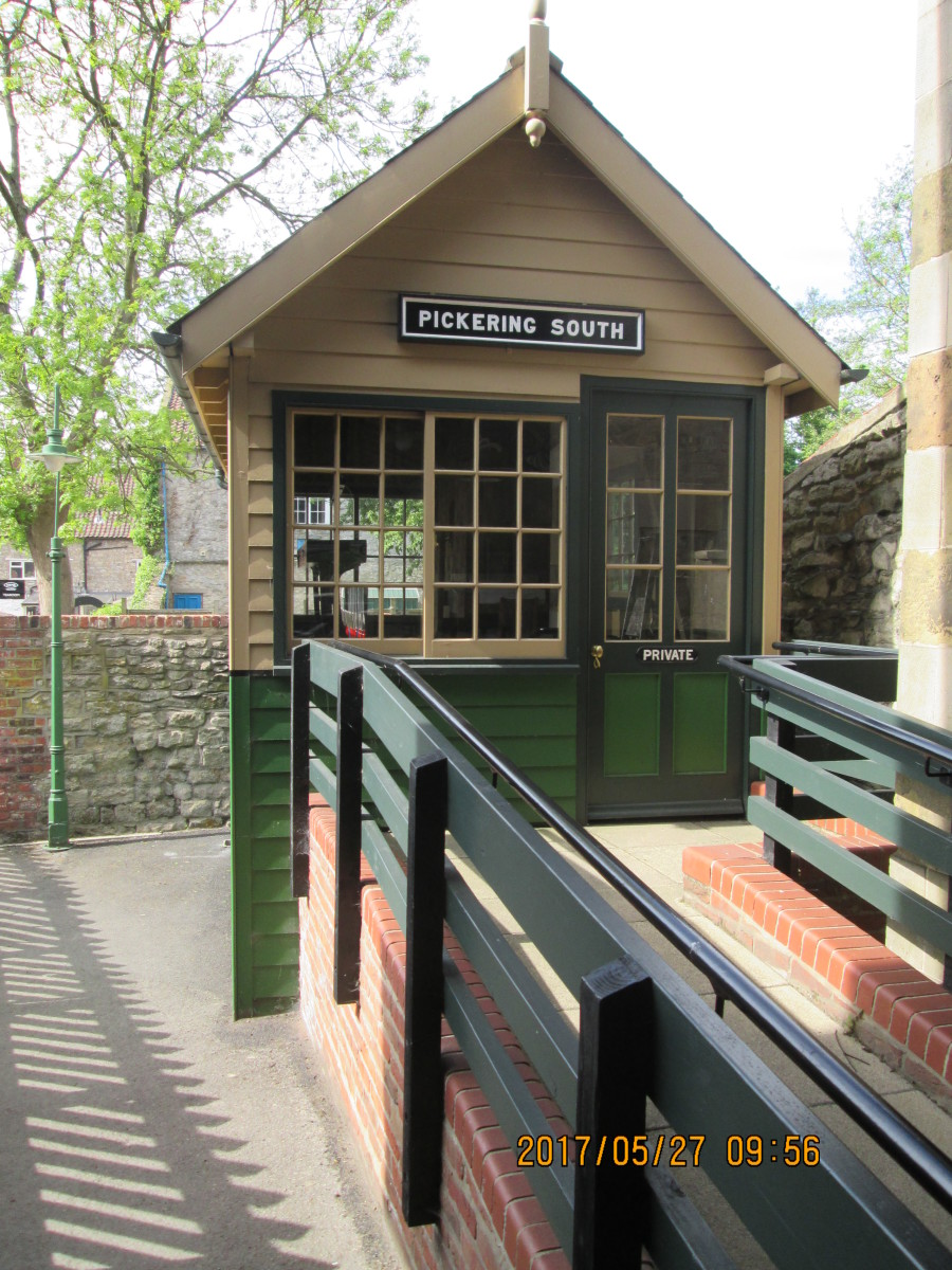 The cabin seen from the platform end, erected to show children how a manually operated signal installation looked and worked