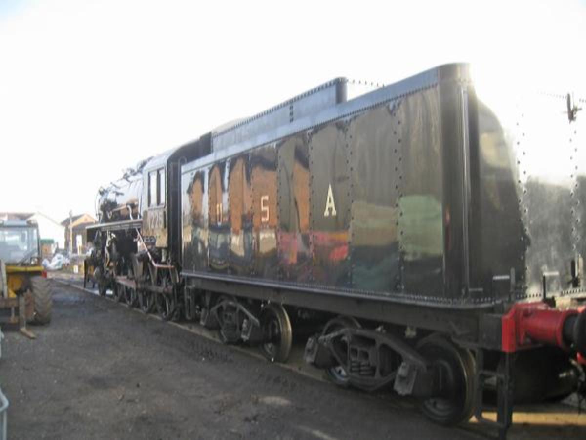 Santa Specials made way this year - 2019 Christmas season - for Polar Express hauled by USA wartime Baldwin S160 2-8-0 No.1225