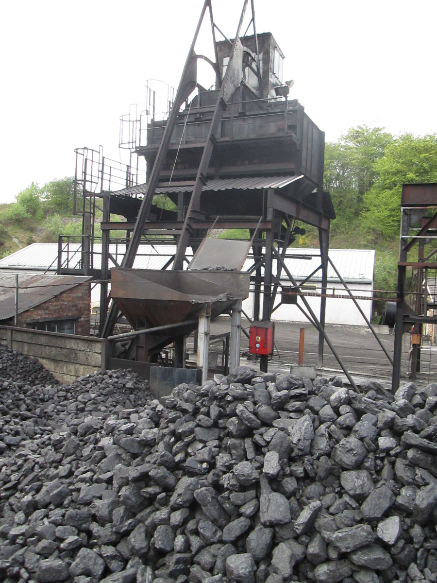 Locomotive coaler at Deviation Shed - supplies these days tend to be of a lower calorific value from Eastern Europe.