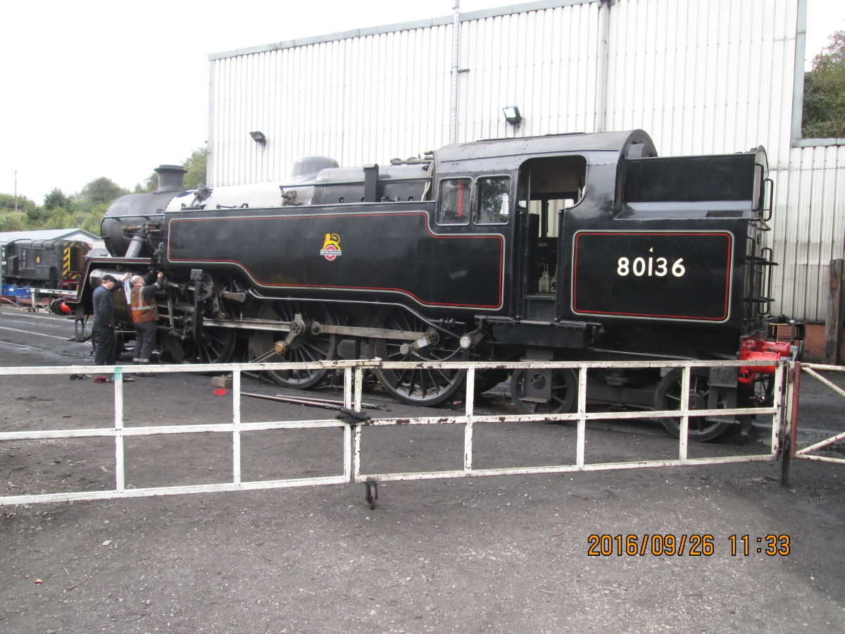 80136, one of the new 'fillies' in the 'stable, sister loco to the NYMR's BR Standard Class 4MT 2-6-4 T 80135. These engines were built at Brighton works in the mid-1950s. Some were allocated to the North East, all in black mixed traffic livery.'