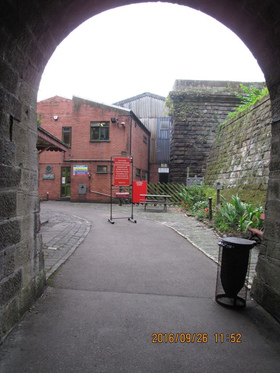 A look back through the southern mouth of the original tunnel - now pedestrians only - back towards Deviation Shed