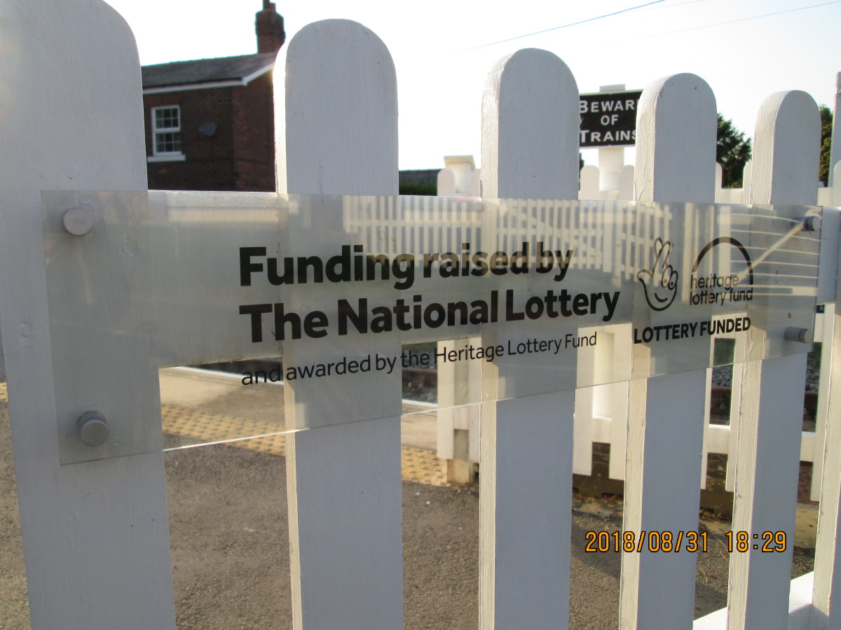 Thanks go in part to the Heritage Lottery Fund, as displayed on the wicker gate at the crossing (above)