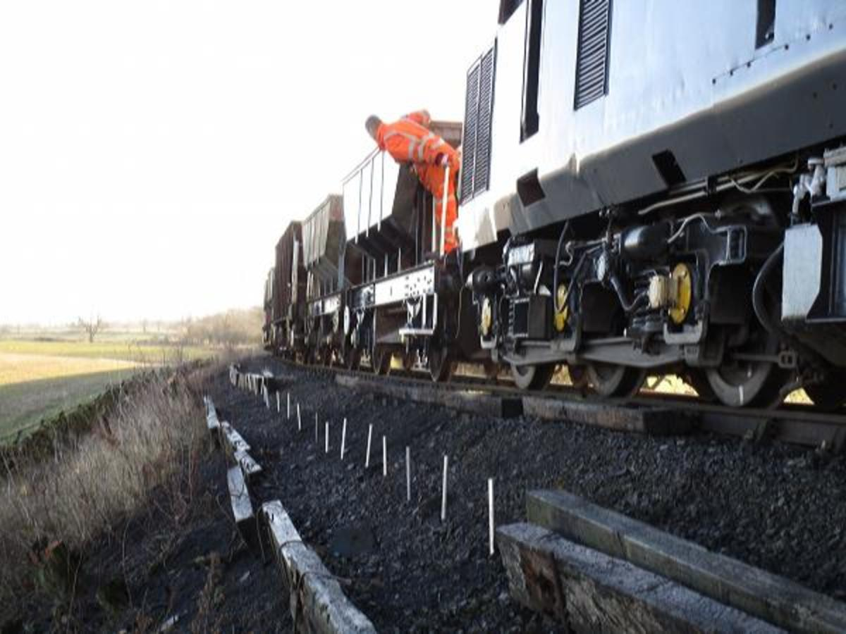 The ballasting wagons are out - to be able to increase train speed ballasting needs to be kept up-to-date with new chips bought in. The permanent way is like painting the Forth Bridge, a never-ending job. Another aspect is the clearance of vegetation