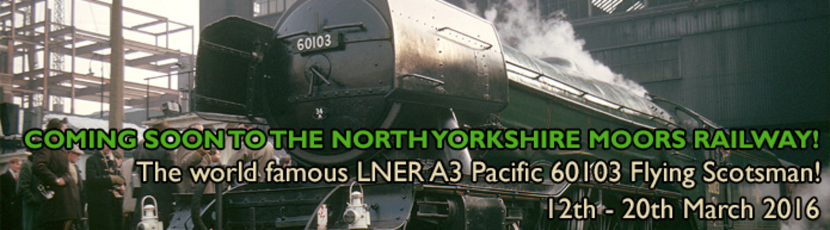 Scotsman's week on the NYMR, March 12-20th, 2016. Periodically the railway hosts steam and diesel galas. Watch out for future events on the NYMR web-site