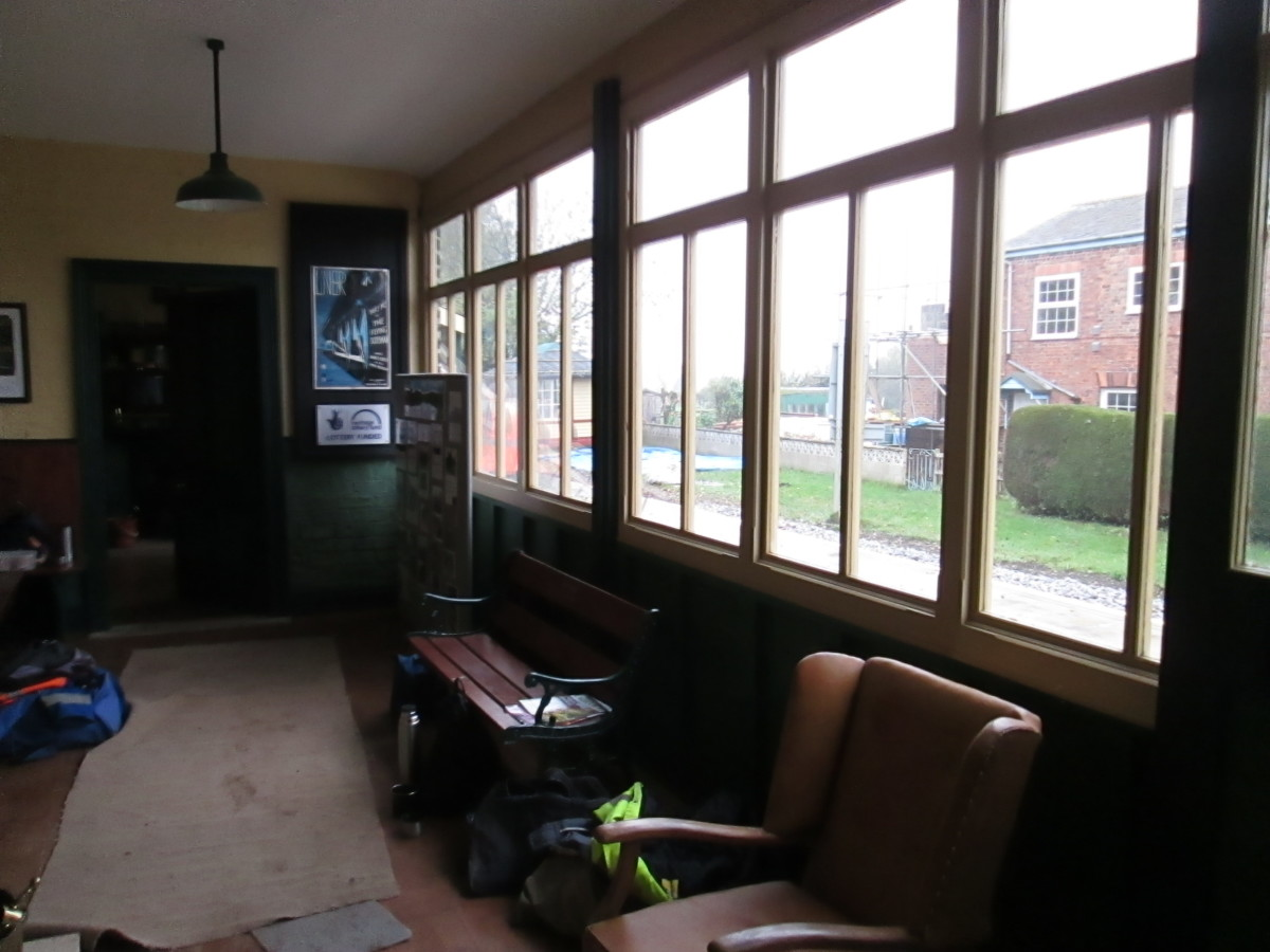 General waiting room, first class beyond, booking office window this end...