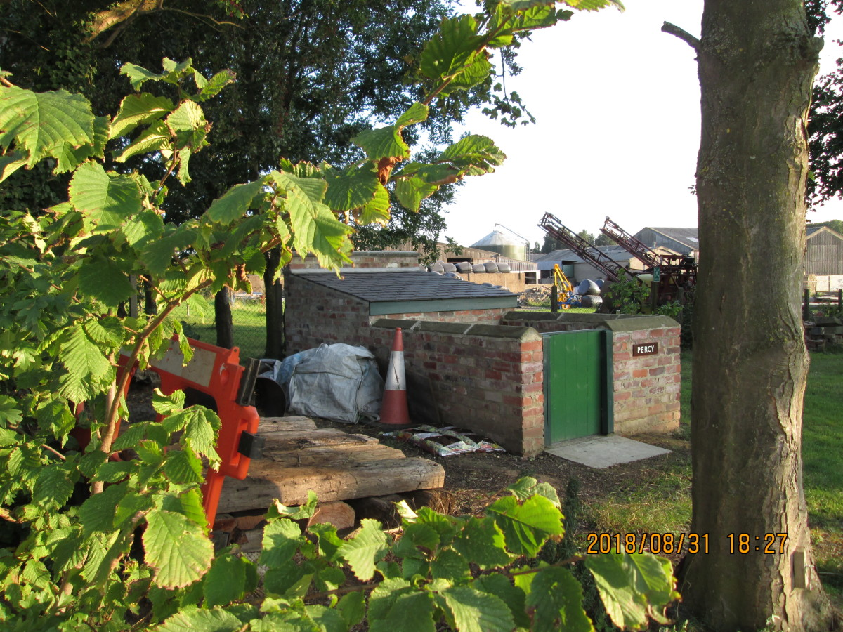 31st August, 2018 - On the way back from the Wensleydale Railway's upper reaches t stopped off at Scruton and took another few pictures, this is the pig sty complete with name plate - 'Percy Pig' eh? How long before a tenant takes up the lease?