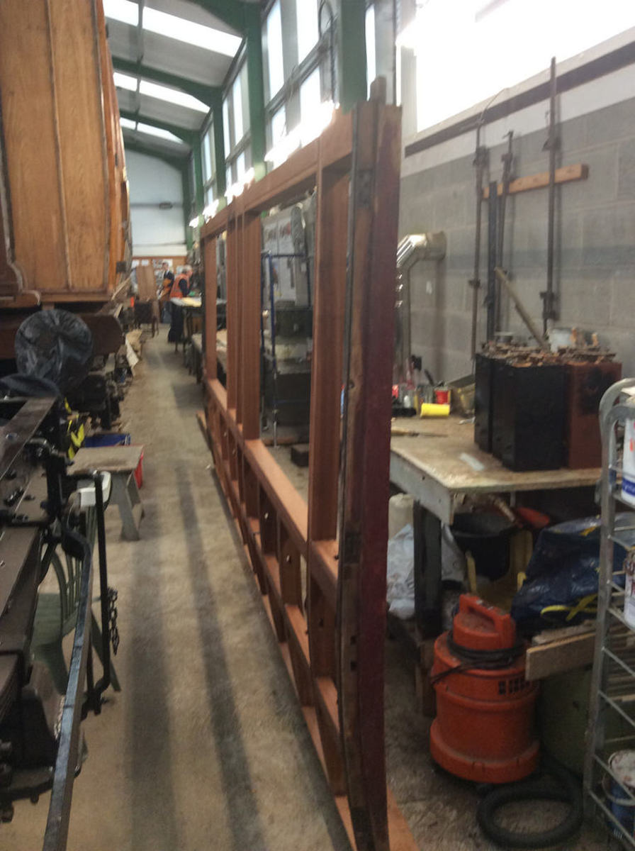 Restoration work underway at the LNER Coach Association's workshop at Pickering, NYMR