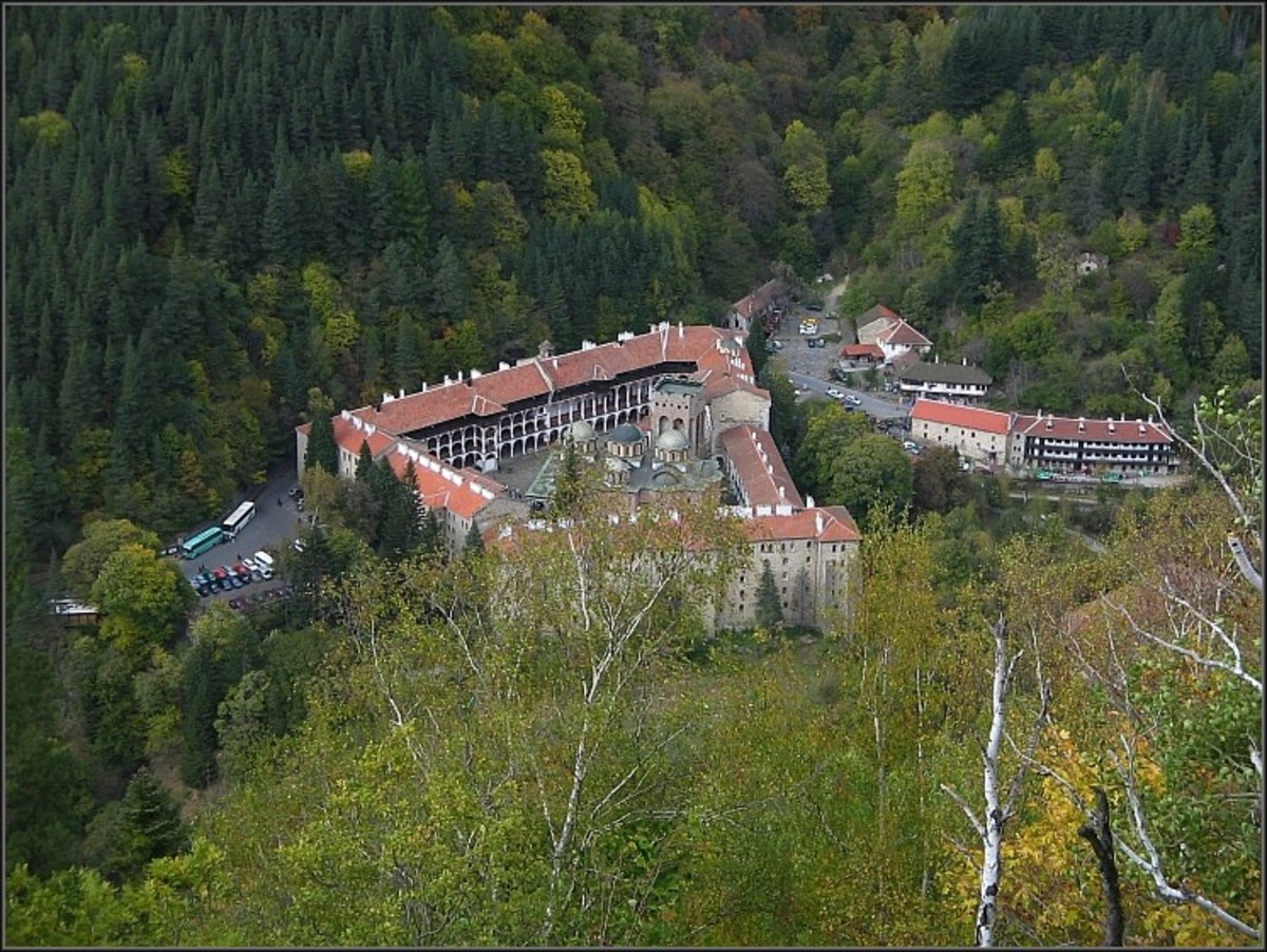 The Rila Monastery from above